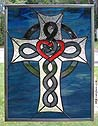 Red Heart Celtic Cross & Knot
